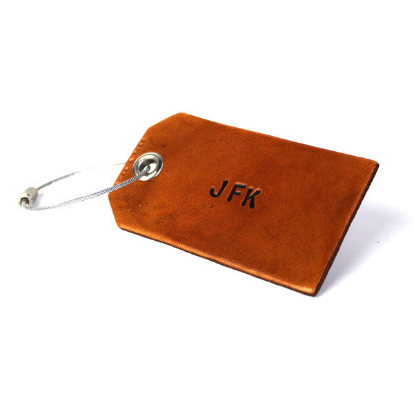 3 Character Monogram Luggage Tag - Brown | Owen & Fred