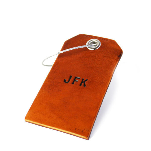 3 Character Monogram Luggage Tag - Brown