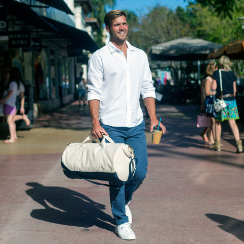 Men's Tan Gym Duffel Bag