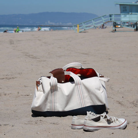 "Natural ""Work Hard, Play Hard"" Duffel"