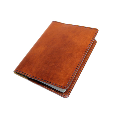 Monogrammed Passport Wallet - Whiskey