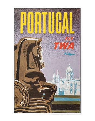 Vintage Airline Poster - Portugal/TWA