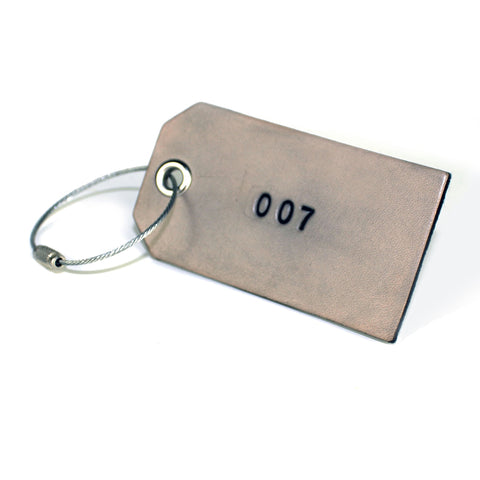 3 Character Monogram Luggage Tag - Smoke Grey