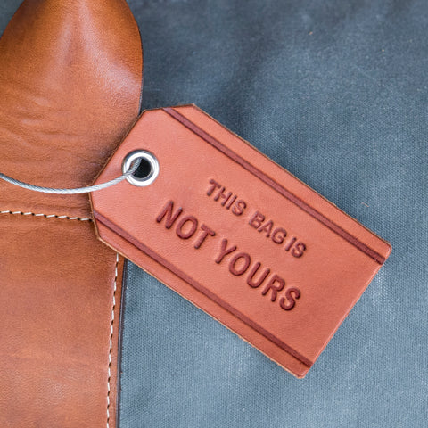This Bag is Not Yours Leather Luggage Tag - Brown