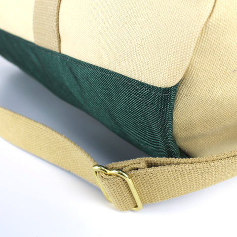 "Khaki ""Work Hard, Play Hard"" Duffel"
