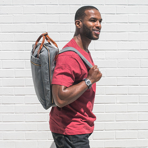 Metro Waxed Backpack - Charcoal