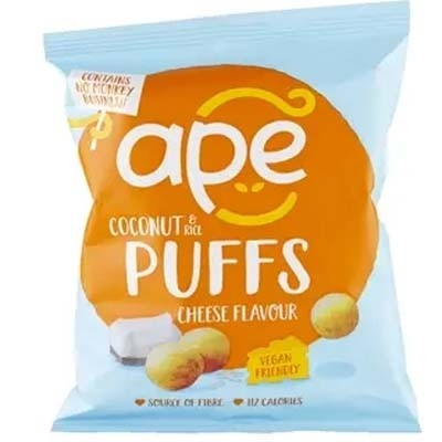 Ape Snacks Coconut & Rice Puffs 24 x 25g