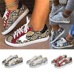 2020 Snake Pattern Flat Sneakers Shoes