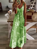 2020 Summer Sunflower Print Bohemian Style Long Dress