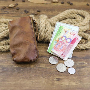 Handmade Retro Wear-resistant Casual Zipper Coin Purse