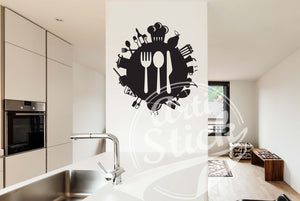 Kitchen Utensil Decal