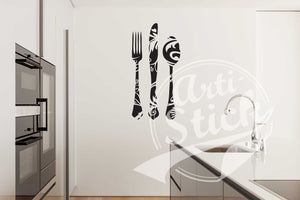 Knife fork & spoon kitchen deco