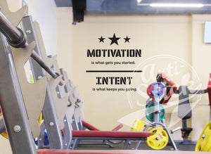 Motivation is what gets you started, Intent is what keeps you going.