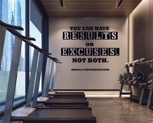 You can have results or excuses. Not Both. Arnold Schwarzenegger
