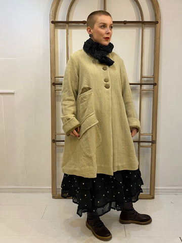 SUZANNE Rustique Twill Coat - Oat