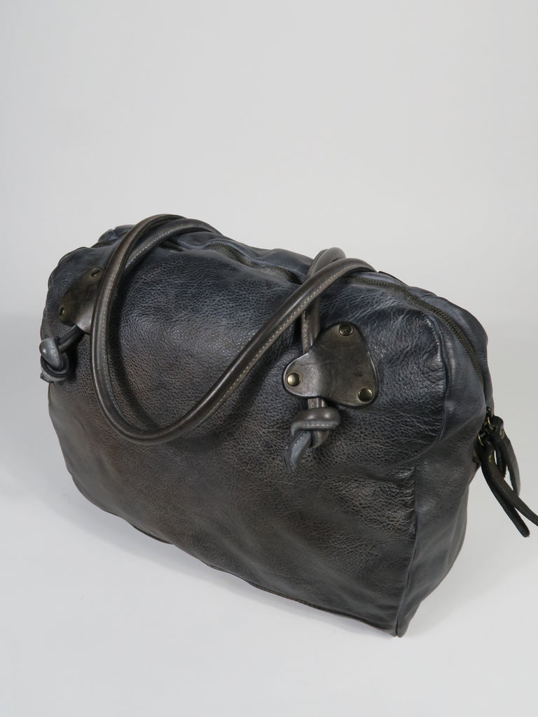 3822 Leather Bowling Bag - Pewter