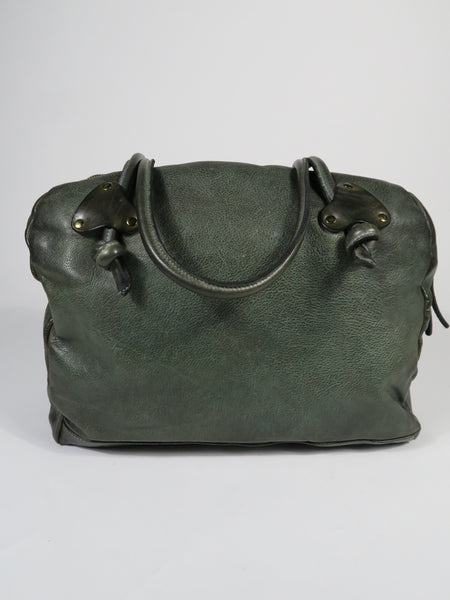 3822 Leather Bowling Bag - Forest