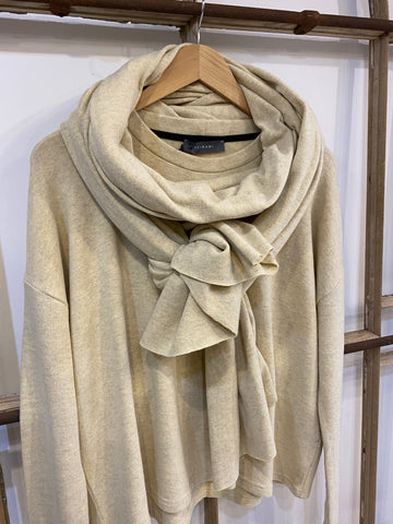 A25 CSB Plain Long Scarf - Ecru