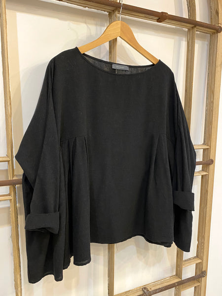 T255 SE Oversized Gathered Top - Black