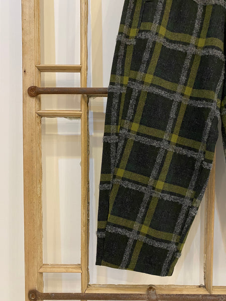 PRUX Check Trousers - Green