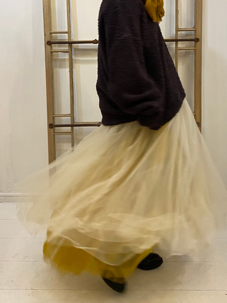 GO279 Tulle Over Skirt - Turmeric