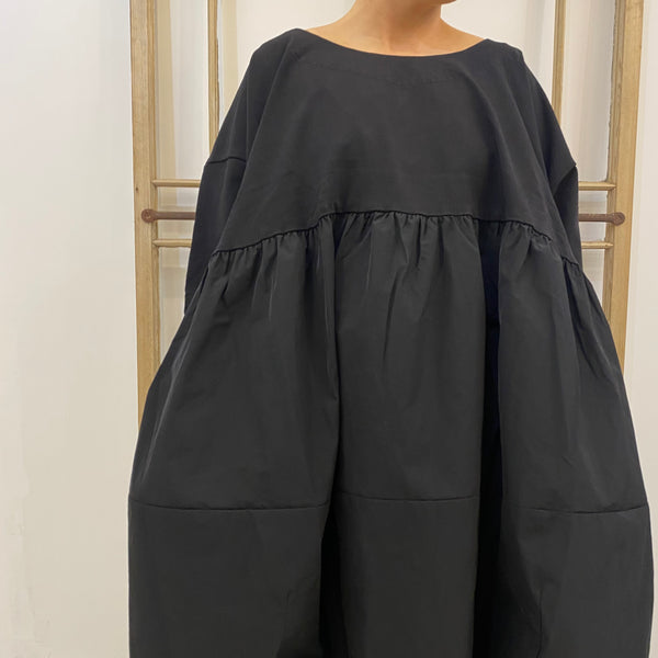 329 0924 Plain Dress - Black
