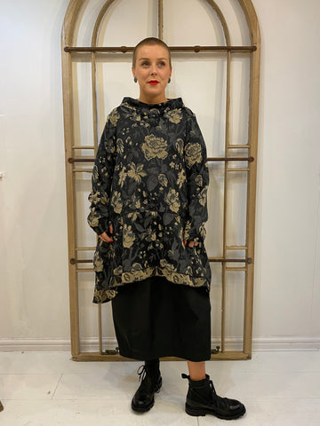 2060 Jacquard Tunic - Black/Gold