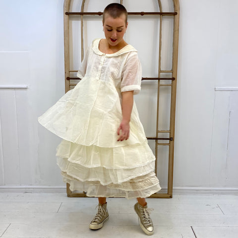Sandie Organza 3 Tier Dress - Ecru