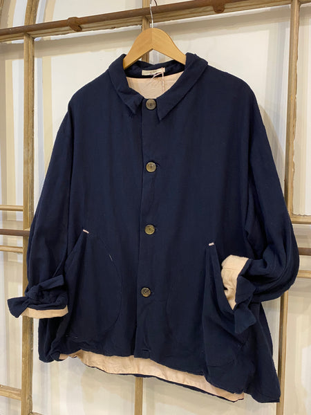 #230 Silk Lined Navy Jacket