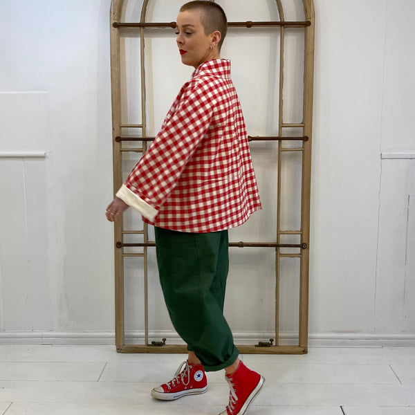 GH01 Gingham Jacket - Red
