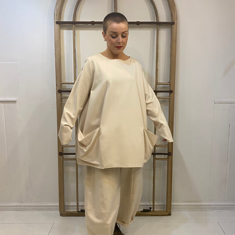 107P0 Pockets Top - Cream