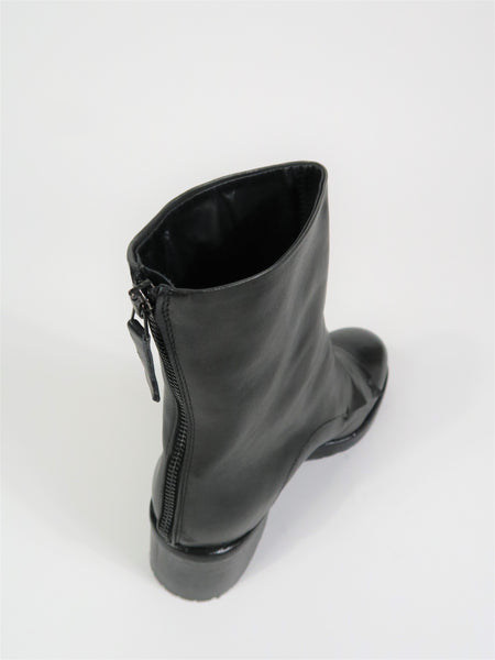 DEL No1 Chunky Heel Ankle Boot in Dark Grey