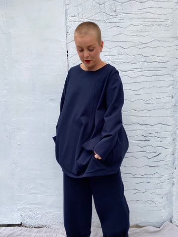 107P0 Pockets Top - Navy