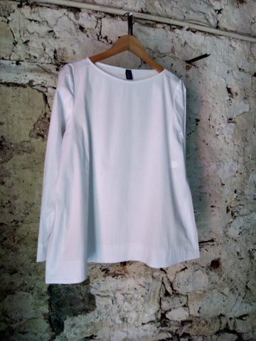 Officinae White Collarless Shirt