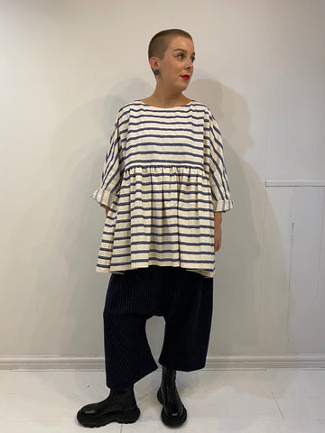 CA001 Gathered Stripe Top