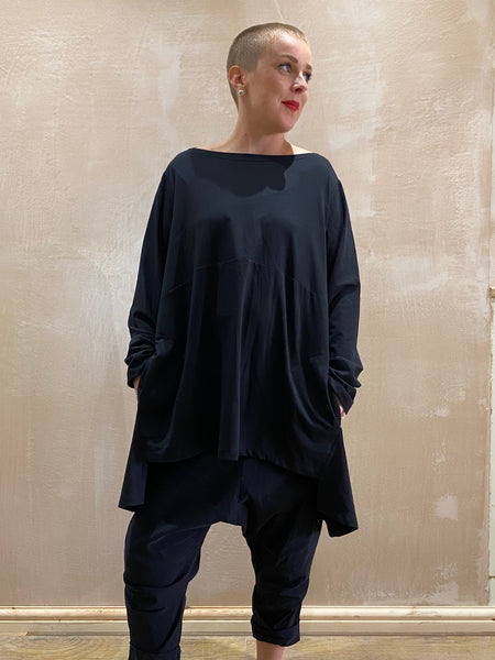 Black Cerere Jersey Top