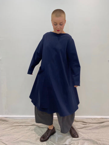 403P0 A Line Tunic - Navy