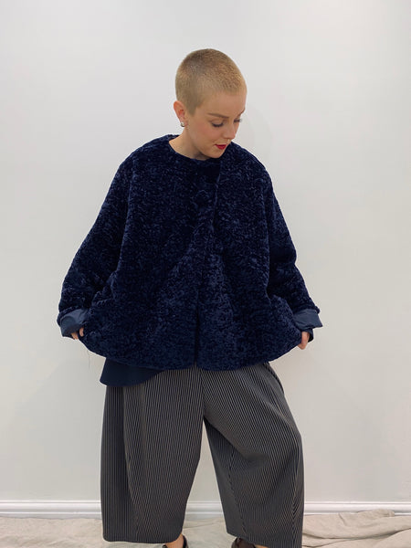 6013M Reversible Fur Jacket - Navy