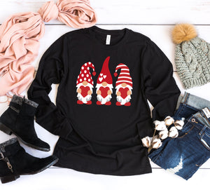 Long Sleeve Valentine Gnomes Tee