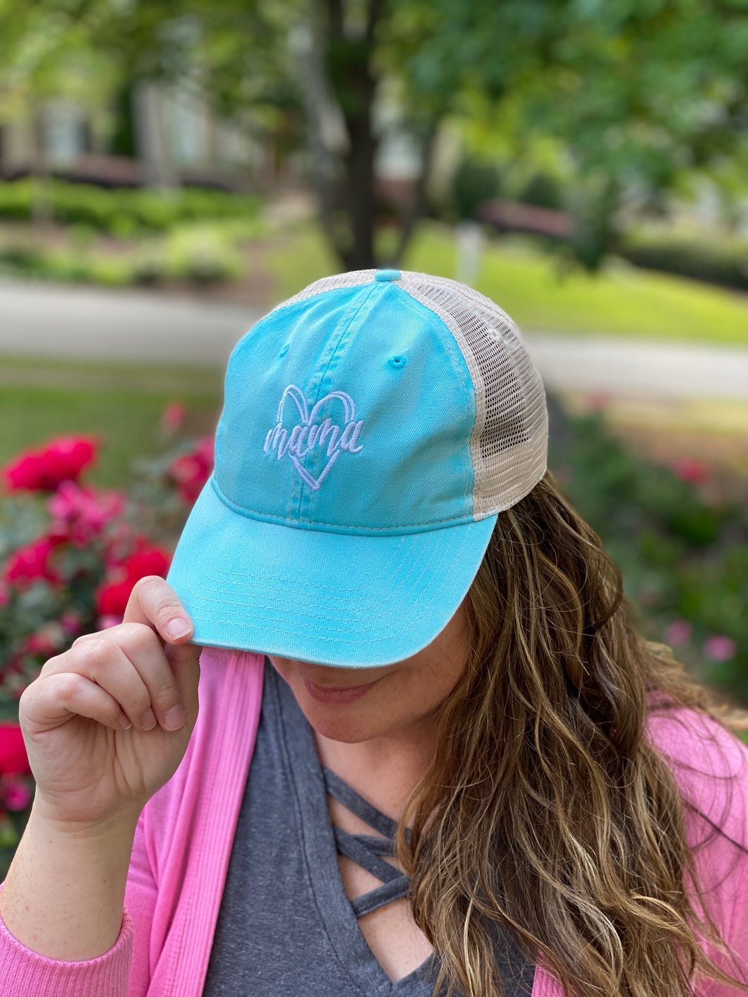 Mama Heart Trucker Hat