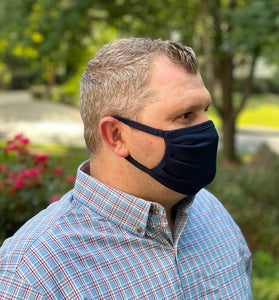 3 Layer Navy Face Mask