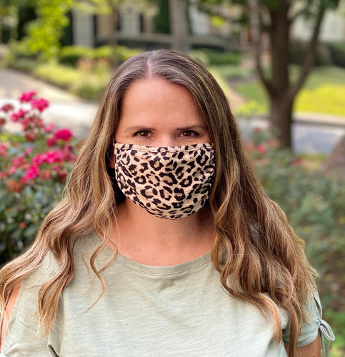 Adult Non Medical Leopard Face Cover