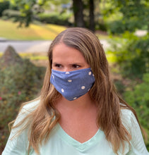 Adult Non Medical Denim Dot Face Cover