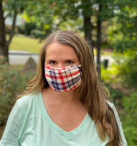 Adult Non Medical Plaid Face Cover