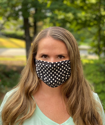 Adult Non Medical Polka Dot Face Cover