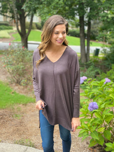 Ultra Soft V-Neck Tunic Sweater