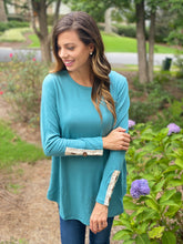 Lace and Button Detail Tunic