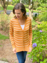 Striped Snap Button Cardigan