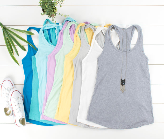 Racerback Basic Tanks - Buy 2 Get 1 FREE