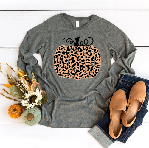 Long Sleeve Leopard Pumpkin